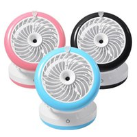 Wholesale Mini USB Portable Cooling Fan USB Spray Mist Humidifier USB Phone Charger Pink Black Blue HS395