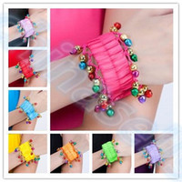 Women Belly Dancing Chiffon Tribal Style belly dance bracelet Egyptian dance costumes accessories Indian dance hand catenary belly dance wristband jewelry