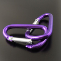 aluminum jewelry findings - 35907 Purple Aluminum Carabiners Keychains Bags Jewelry Finding mm