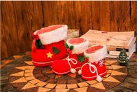 Wholesale 2016 Christmas decorations Children gift Candy boots Small gift bag Christmas stocking Christmas tree ornaments Small ornaments