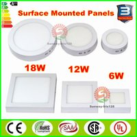 Wholesale LED Surface Mounted Panel Lights Dimmable W W W Round Square mount in light LED ceiling lamps downlights