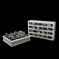 acrylic storage trays - Fashion One piece New Acrylic Jewelry Display Showcase Shelf Slots Ring Storage Holder Tray CM