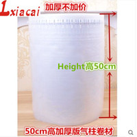 Wholesale cm m Column bubble bag coil Cushioning Material Protective inflatable packaging material shockproof buffer bag