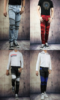 american flag print pants - Fashion Robin Zipper Jeans Men Classic Biker Jeans Wash Studded Cowboy Slim Denim Trousers with Wings American Flag Jean Mens Skinny Pants