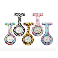 Wholesale New Silicone Colorful Prints Medical Nurse Watch Cute Patterns Fob Quartz Watch Doctor pocket Watches Brooch Fob Tunic Watch
