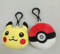 Wholesale Wedding Keychains wedding gift Lovely Pikachu keychains love keychains Handbag Key chain Favors for Christmas gift