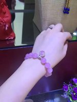 beaded treasures - Natural pink crystal bracelet rare mosaic s925 sterling silver handmade treasures bracelet a limited number of welcome to cart