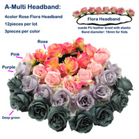 Wholesale Flower Headbands Little Rose Girls Garland Elastic Braided Bohemian Purple Green Wedding Party Gift Floral Highly Quality Garland