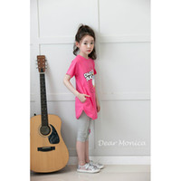 Wholesale Mens kids children Leggings summer fashion girls pants seven cotton trousers
