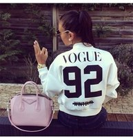 american baseball jackets - Vogue female jacket European and American short coat Zipper long sleeved baseball uniform