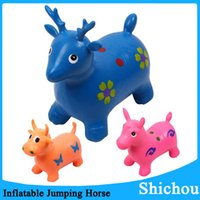 Wholesale New Cheap ride on hopper horse bouncy animal inflatable jumping horse deer cow space hopper jumping