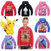 Wholesale Finding Dory Marshall PokeToddler Baby Boys Girls Clothes Cotton Hoodie Coat Kids Autumn Outwear Clothing