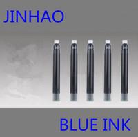 Precio de Cartuchos de tinta de la fuente al por mayor-Venta al por mayor-30pcs Jinhao marca de alta calidad mejor diseño 2inch longitud pluma recarga cartucho de tinta pluma recargas azul