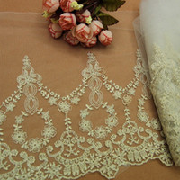 beautiful garments - Hot Yard Multifunction Classical Embroidered Lacework Trims Beige Clothes Decorative Lace Beautiful DIY Garment Ribbon YR0067 salebags