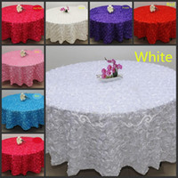 Wholesale Blush Pink D Rose Flowers Table Cloth for Wedding Party Decorations Cake Tablecloth Round Rectangle Table Decor Runner Skirts Carpet Cheap
