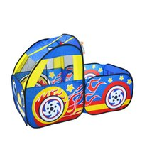 Wholesale Early childhood toys good quality corretly parent child communication crawling interactive games cartoon car shape children tent