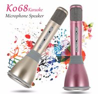 Wholesale 2016 Newest K068 Bluetooth Wireless Microphone With Mic Speaker Condenser Mini Karaoke Player KTV Singing Record