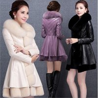 Wholesale 2017 winter fashion women s luxurious faux fur coat Socialite thick warm leather jacket parkas Top quality sheepskin coats