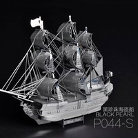 Wholesale Pandamodel Chinese Metal Earth D Metal model kits inch Pirates of the Caribbean Black Pearl Sheets Military Puzzles DIY
