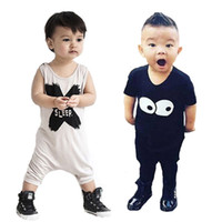 Wholesale Retail Brand Kikikids Baby Jumpsuits Rompers Cartoon Totoro Letter Pattern Newborn Bodusuit Romper Summer Style Boy Girl Clothes