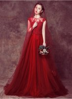 Wholesale Sexy Back Elegant Ladies New Long Evening Dress Red Color wedding dress