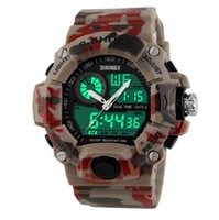Wholesale 2016 Men Sports Watches Time Zone Digital Quartz Watch Dive M Waterproof LED Electronic Multifunctional Military Wristwatch