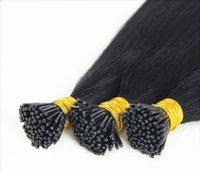 Wholesale Peruvian human hair i tip hair extensions g s quot quot a grade i tip human hair extensions s i tip hair