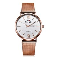 Wholesale Fashion Woman Watch Japanese Quartz Movement Rose Gold Round Dial Classic Business Wrist Watch Relogio Feminino Brand New