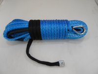 atv winch kits - Blue mm m Synthetic Rope Kevlar Winch Rope Towing Rope ATV Winch Kit