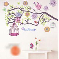 bedroon decor - 2015 New Cartoon Children s Room Bedroon Bohemian Morning Tree Bird Vinyl Art Wall Sticker Paster Decal Mural Home Decor