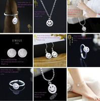 Cheap Bracelet,Earrings & Necklace 925 Sterling Silver Emoji Bracelet Ankle Best Mexican Women's Smiling Face Emoji Bracelet Anklets