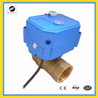 air valve function - CWX S DN20 brass way motorized ball valve DC24v CR01 two wires electric ball valve with manual override function for air warm