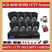 Wholesale CIA CH H Real time Home Security DVR CCTV Surveillance Camera System With IR Night Vision Cameras TB Hard Drive