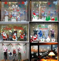 Wholesale 2016 Christmas Christmas Decoration Quit Selling The Product Sticker Window Sticker Glass Door Window Stickers Wall Sticker Santa Claus