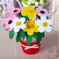 Wholesale Handicrafts DIY nonwoven artificial flower pot children hand toys Early childhood educational toys handmade craft L363
