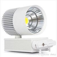 Wholesale 2016 Super bright W COB Led Track Light TrackLight High Power Spotlight for Shop Clothing store track Spot Lighting High Bright