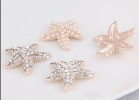 Wholesale beautiful mm Starfish Flatback Rhinestone Buttons For Hair Flower Wedding Invitation