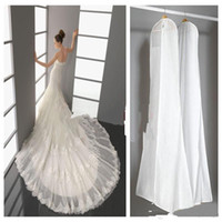 Wholesale 2016 Wedding Dress Bags White Dust Bag Travel Storage Dust Covers Bridal Accessories For Bride Garment Cover Stock Storage Dust Covers