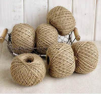 Wholesale Jute Twine Meter Natural Sisal mm Rustic Tags Wrap Wedding Decoration Crafts Twisted Rope String Cord Events Party Supplies