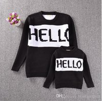 Wholesale Kids Ins knited sweater Baby HELLO Bye sweater Ins Pullover Winter knited coats Fashion jackets Ins sweatershirt cardigans Jumpers A128
