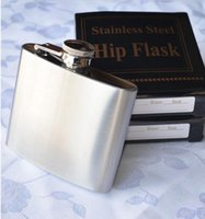 Wholesale stainless steel oz hip flask alcohol flask pocket HOT Color steel Wine Flask Party Drink Hip Flask