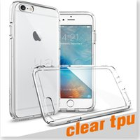 Wholesale For Iphone S plus SE transparent TPU Gel Crystal Clear soft Silicon Case Back Cover For Samsung Note galaxy S7 EDGE S6 clear cases