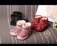 Wholesale Superior quality Kid s Bow Starlight Boot winter new South Korea Crystal girls snow boots thickening