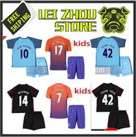 Wholesale best quality Manchester city kids soccer Jerseys Home away rd KUN AGUERO DE BRUYNE STERLING NOLITO youth football shirt