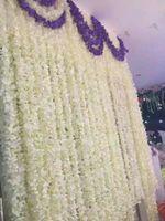 wisteria vines - 230 cm White Simulation Hydrangea Flower Artificial Silk Wisteria Vine for Wedding Home Decoration