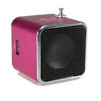 Wholesale High Quality Portable Micro USB Stereo Mini Speaker FM Radio Speaker Ubwoofer Super Bass Portable Speakers Altavoz Receiver