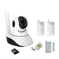 alarm outdoor pir - FKH WIFI Burglar Alarm IP Camera Built in GB SD Card With Wireless Door Magnetic Sensor PIR Motion Detector