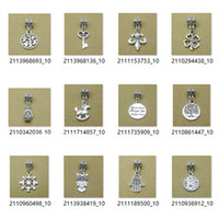 antique patriotic - Antique Silver Life Tree Bead Pendants For Pandora Bracelets Big Hole Beads Loose Beads Charms For DIY European Necklace Jewelry C2036