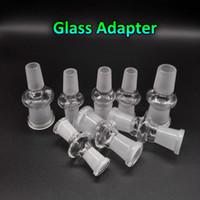 al por mayor 14mm converter-Cristal adaptador convertidor 12 estilos Mujer Hombre 10 mm 14 mm 18 mm 14 mm 18 mm a 10 mm hembra macho de vidrio adaptadores para plataformas petrolíferas cristal Bongs