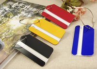 Wholesale aluminium travel luggage tag metal luggage tag with pvc coated steel wire rope miniumum order promotion luggage tag